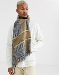Серый широкий <b>шарф</b> в клетку <b>Topman</b> | ASOS