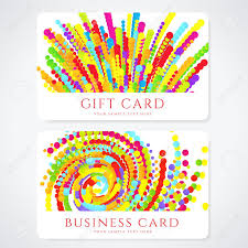 colorful business or gift card template abstract pattern colorful business or gift card template abstract pattern bright background design usable for gift coupon