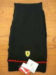 Мужской <b>шарф</b> NWT <b>Puma</b> Ferrari Lifestyle <b>Knit Scarf</b> - Black