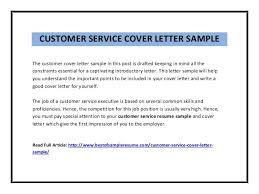 resume sample cover letter customer service the entry level customer service cover letter