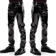 Plus Size Men <b>Sexy</b> Black <b>Wetlook</b> Faux Leather <b>Lingerie</b> Exotic ...