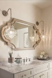 this bathroom feels very original with this mirror and the vintage inspired light fixtures the mirror and lights can be purchased thru casabella home bathroom vanity barnwood mirror oyster pendant lights