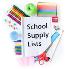 Image result for SCHOOL SUPPLY LISTS