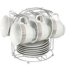 <b>Сервиз чайный из керамики</b>, 12 предметов, на подставке ...