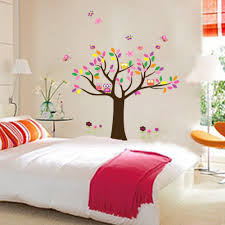 kids art decor children owls nursery  df removable wallpaper large owls tree wall stickers for kids rooms d