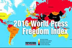Resultat d'imatges de world press freedom 2016 index