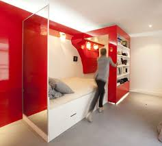 fascinating bedroom space furniture stylish apartment decoration design with the red nest bedroom along white bedstead bedding bedroom wall bed space saving furniture