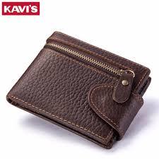 KAVIS Quality Genuine Cowhide Leather <b>Men</b> Wallet <b>Male Cuzdan</b> ...