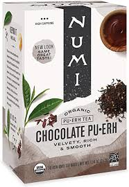 Numi <b>Organic Chocolate Pu</b>-<b>erh Tea</b>, Full Leaf Black <b>Pu</b>-<b>erh Tea</b>, 16...