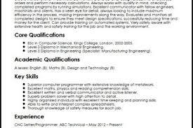 cnc programmer cv sample curriculum vitae builder cnc programmer resume