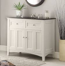 traditional style antique white bathroom: adelina inch antique white sink bathroom vanity black galaxy granite counter top white under mount porcelain sink large storage compartment