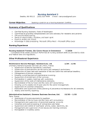 skill resume for cna cipanewsletter cna objective for resume template