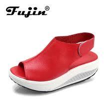 <b>Fujin Brand 2019 Summer</b> Shoes Fashion For Women Leather PU ...