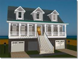 Coastal Cottage House Plans Elevated Coastal House Plans  elevated    Elevated House Plans for Flood Zones Elevated Home Plans Designs
