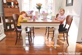 pottery barn style dining table: diy farmhouse style dining table opc the better half
