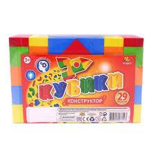 """<b>Кубики</b> """"Конструктор"""", в наборе 29 предметов - PT-00477 ..."""