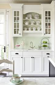 Shabby Chic Colors For Kitchen : Kitchen room design black white shabby chic painted