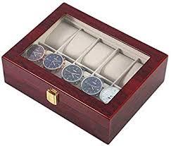 <b>Practical</b> 10 Grids Wooden Watch Box <b>Durable Home</b> Jewelry ...