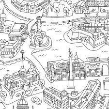 лондон раскраска в конверте
