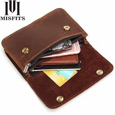 <b>MISFITS</b> Genuine Leather Waist Packs <b>Men</b> Cigarette Pouch <b>Mini</b> ...