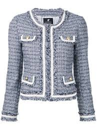 Loveless cropped tweed <b>jacket</b> | Jaqueta chanel, Jaqueta, Casacos ...