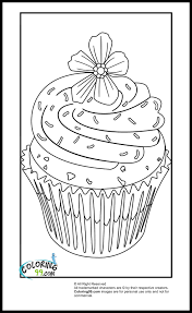 Small Picture Hard Cupcake Coloring PagesCupcakePrintable Coloring Pages Free