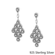 <b>CKK Authentic 925 Sterling</b> Silver Drop Earrings Cascading ...