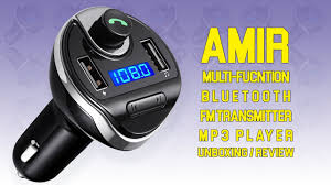 AMIR Multi-Function <b>Wireless Bluetooth Car</b> MP3 Player | Unboxing ...