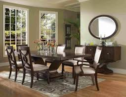 modern wood dining room sets: dining room appealing  piece dining room sets also buffet with wall mirror