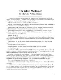the yellow wallpaper sparknote the yellow wallpaper