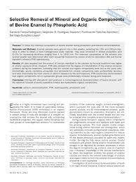 (PDF) Selective <b>Removal</b> of Mineral and Organic Components of ...