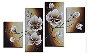 Wieco Art 100% Hand-Painted Wood Framed Abstract ... - Amazon.com