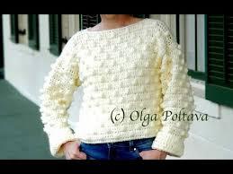 How to <b>Crochet Oversized</b> Popcorn Sweater, Sizes <b>Extra</b> Small to ...