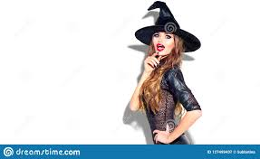 <b>Halloween</b>. <b>Witch</b> With Bright Holiday Makeup. <b>Beautiful</b> Surprised ...