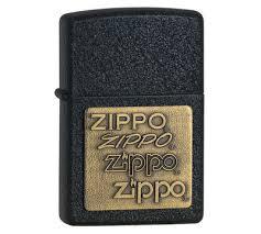 <b>Зажигалка Zippo</b> с покрытием Black Crackle (чёрный матовый ...