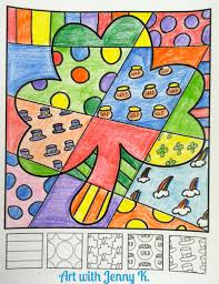 Small Picture FREE coloring sheet for St Patricks Day This Pop Art shamrock