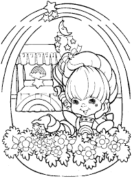 Small Picture rainbow brite coloring page Coloring Pages Pinterest