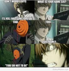 Tobi or not Tobi.... | Akatsuki | Pinterest via Relatably.com