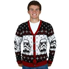 <b>Star Wars Stormtrooper Men's</b> Ugly Christmas Cardigan | Walmart ...