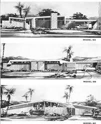 Mid Century Modern House Plans   Modern BearMid Century Porn  Vintage House Elevations