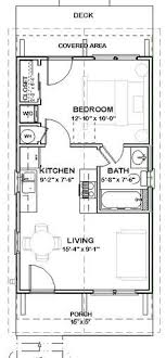 Small Picture 16x32 Tiny House 16X32H1C 511 sq ft Excellent Floor Plans
