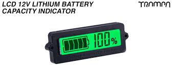 LCD 12V <b>Lithium Battery Capacity Indicator</b> - GREEN Screen