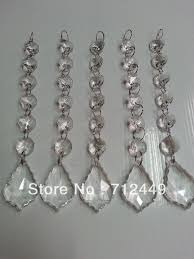 "<b>30pcs</b>/<b>lot</b>, 6 crystal beads +38mm <b>pendant</b>, 7"" long crystal garland ..."