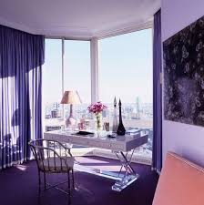 an office fit for a queen the color purple is associated with royalty this intriguing color is the combination of opposites hot red and cool blue calming colors for office