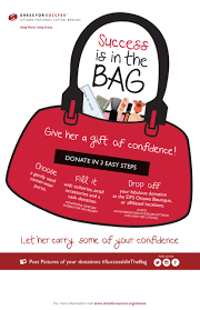 donation drives dress for success ottawa its in the bag poster