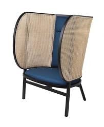 the enveloping arms of gebrder thonet viennas new hideout lounge chair provide privacy in open public spaces charlotte lounge chair 01