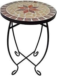 Flower stand with <b>Mosaic</b> Pattern, Flower <b>Plant</b> Table <b>Side Table</b> ...