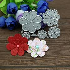 <b>5pcs</b>/<b>set Flower Metal</b> Cutting Dies Stencils Scrapbooking ...