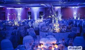uplighting by special notes entertainment agency photo by dixie pixel the pink bride www blue wedding uplighting