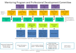 mentoring and professional development committee 2015 2016 organizational chart for mentoring program